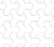 3D white abstract tetrapod grid Stock Photography