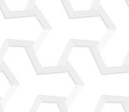 3D white abstract tetrapod striped grid Stock Photos