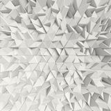 3d White abstract triangles backdrop. 3d rendering geometric polygons, as tile wall. Interior room Royalty Free Stock Photos