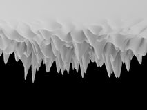 3d white abstract wavy landscape background Stock Images