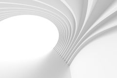 3d White Arch Interior Design. Abstract Architecture Background vector illustration