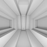3d White Architecture Background Royalty Free Stock Photography