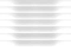 3D white blinds background Stock Image