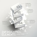 3d white block infographic elements. Vector abstract 3d white block infographic elements Stock Photo