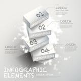 3d white block infographic elements Stock Photo