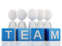 3d white business people. Team concept.  white Stock Photography
