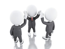 3d White business people. teamwork concept. Royalty Free Stock Image