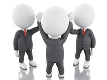3d White business people. teamwork concept. Stock Image