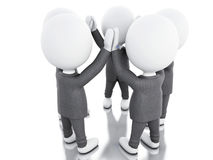 3d White business people. teamwork concept. Royalty Free Stock Photo