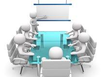 3d white business persons at a workshop. Presentation. 3d render illustration Stock Image