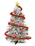 3D White Christmas tree Royalty Free Stock Photo
