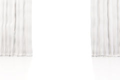 3d white clean curtain Royalty Free Stock Photos