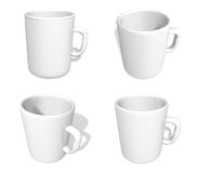 3D White coffee cup icon. 3D Icon Design Series. Royalty Free Stock Images