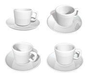 3D White coffee cup icon. 3D Icon Design Series. Royalty Free Stock Image