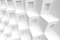 3d White Cubes Background. Abstract Futuristic Design Royalty Free Stock Photography