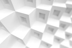 3d White Cubes Background. Abstract Futuristic Design Royalty Free Stock Photos