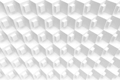 3d White Cubes Background. Abstract Futuristic Design Royalty Free Stock Image