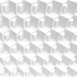3d White Cubes Background. White Cubes Background. Abstract Futuristic Design. 3d Rendering. Creative Web Wallpaper Stock Photos
