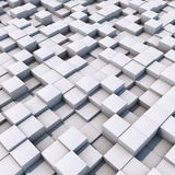 3D white cubes surface. Abstract 3D white cubes surface background Stock Illustration