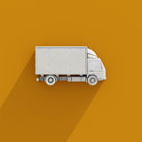 3d White Delivery Truck Icon Stock Photography