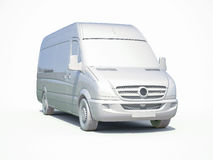 3d White Delivery Van Icon. 3d render: 3d White Delivery Van Icon, Transporting Service, Freight Transportation, Packages Shipment, International Logistics, 3d Royalty Free Stock Images