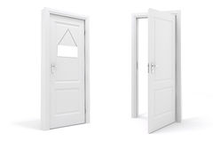 3d white door Stock Photos