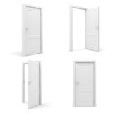 3d white door Royalty Free Stock Image