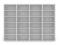 3d white empty shelf Royalty Free Stock Images