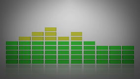3d white equalizer stock footage