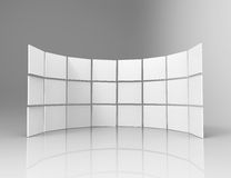 3d white frames in studio. On gray Royalty Free Stock Images