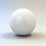 3d white glossy sphere Royalty Free Stock Images