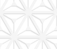 3D white grid with six ray stars Royalty Free Stock Image