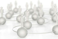3d white human social network. As concept stock illustration