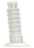 3d white Leaning Tower of Pisa Stock Images