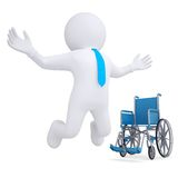 3d white man got rid of the wheelchair Stock Photo