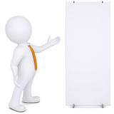 3d man shows up on white poster Royalty Free Stock Image