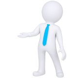 3d white man standing. Isolated render on a white background Royalty Free Stock Photo
