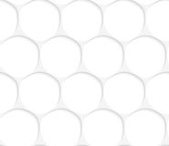3D white oval grid Royalty Free Stock Photography