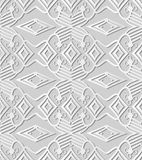 3D white paper art Check Cross Aboriginal Geometry Line. Vector stylish decoration pattern background for web banner greeting card design Royalty Free Stock Images