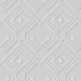 3D white paper art Check Triangle Geometry Cross Stitch Line. Vector stylish decoration pattern background for web banner greeting card design Royalty Free Stock Photos