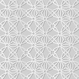 3D white paper art Curve Round Cross Frame Flower. Vector stylish decoration pattern background for web banner greeting card design Stock Photo