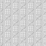 3D white paper art Curve Semi Circle Round Check Geometry. Vector stylish decoration pattern background for web banner greeting card design Stock Images
