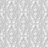 3D white paper art Curve Wave Cross Dot Line Leaf Flower. Vector stylish decoration pattern background for web banner greeting card design Royalty Free Stock Images