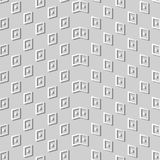 3D white paper art Geometry Check Dot Wave Frame. Vector stylish decoration pattern background for web banner greeting card design Royalty Free Stock Image