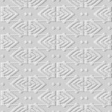 3D white paper art Geometry Polygon Cross Stitch Line Frame. Vector stylish decoration pattern background for web banner greeting card design Stock Images