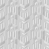 3D white paper art Polygon Geometry Arrow Cross Frame. Vector stylish decoration pattern background for web banner greeting card design Royalty Free Stock Photography