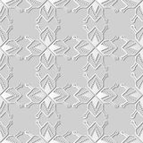 3D white paper art Polygon Star Geometry Cross Dot Frame Line. Vector stylish decoration pattern background for web banner greeting card design Stock Photos