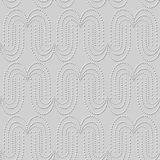 3D white paper art Round Curve Dot Line. Vector stylish decoration pattern background for web banner greeting card design Stock Photo