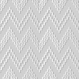 3D white paper art Sawtooth Ladder Geometry Triangle Cross. Vector stylish decoration pattern background for web banner greeting card design Stock Photography
