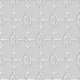3D white paper art Spiral Cross Garden Chain Frame Flower. Vector stylish decoration pattern background for web banner greeting card design Stock Image